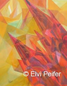 Domfunke 90x80 cm Acryl im Schattenrahmen